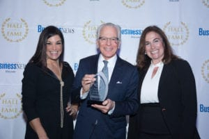 From left to right: LIBN Associate Publisher Alicia Jabbour, Rivkin Radler Partner William Savino, and Janet Lenaghan, Dean of the Zarb School of Business at Hofstra University
